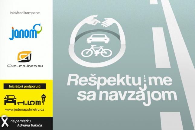 Cycling-Info.sk spúšťa kampaň REŠPEKTUJME SA NAVZÁJOM