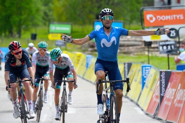 Dauphiné: Šprint do kopca ovládol Alejandro Valverde, porazil Harta aj dvojicu z Bory